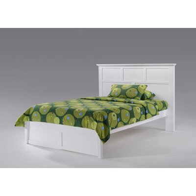 Kahwajian Twin Panel Bed Color: White