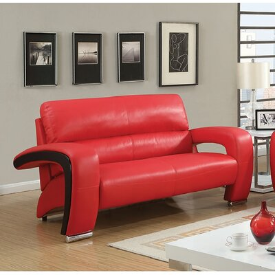 Winbush Standard Loveseat Finish: Red