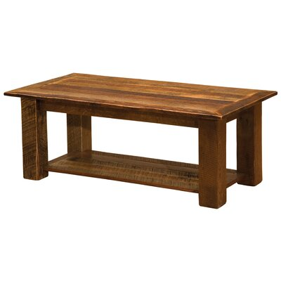 Barnwood Open Coffee Table Size: 18 H x 48 W x 24 D