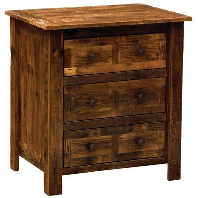 Barnwood 3 Drawer Nightstand