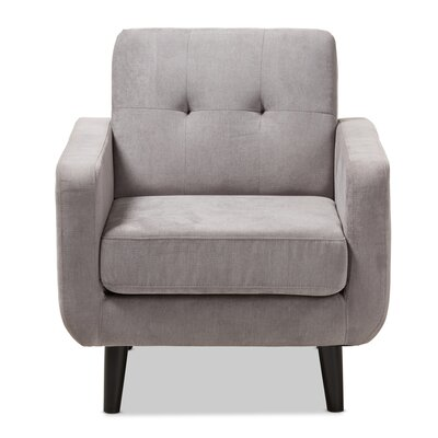 Doty Mid Century Modern Upholstered Arm Chair Upholstery: Light Gray