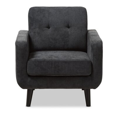Doty Mid Century Modern Upholstered Arm Chair Upholstery: Dark Gray
