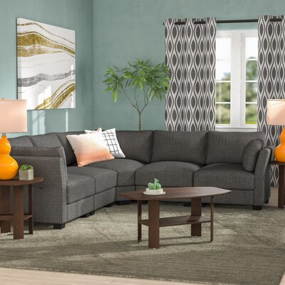 Alkmene Sectional Collection Upholstery: Gray