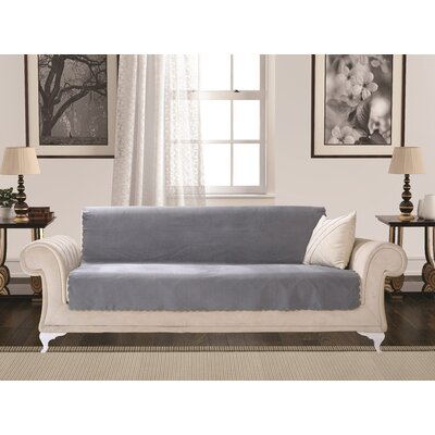 Diamond Box Cushion Sofa Slipcover Upholstery: Smoke