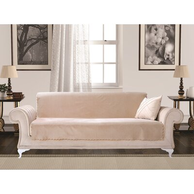 Diamond Box Cushion Sofa Slipcover Upholstery: Camel