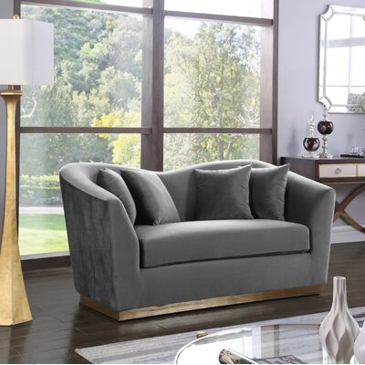 Truchanovicius Loveseat Upholstery: Gray