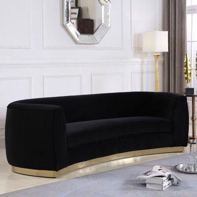 Antonsen Sofa Upholstery: Black