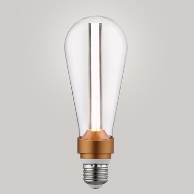 15W Equivalent Amber E26/Medium LED S-Type Edison Light Bulb