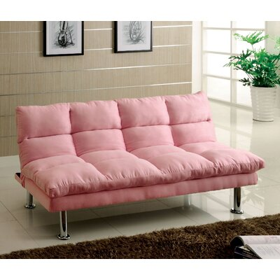 Mcneel Adjustable Sofa Color: Pink