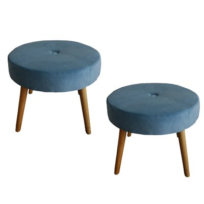 Fairlawn Round Ottoman Upholstery: Teal