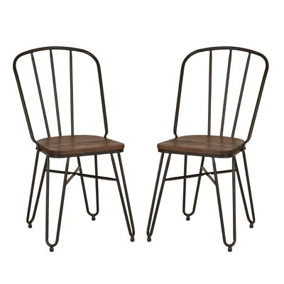 Hilson Industrial Solid Steel Dining Chair
