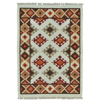 Anatolian Kilim Flat Weave Oriental Hand-Knotted Ivory Area Rug