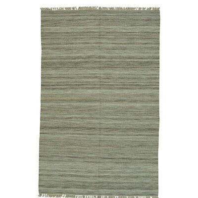 Flat Weave Durie Kilim Oriental Hand-Knotted Beige Area Rug