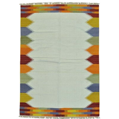 Durie Kilim Flat Weave Hand-Knotted Ivory Area Rug