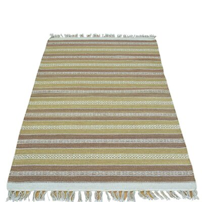 Flat Weave Reversible Durie Kilim Hand-Knotted Brown/Beige Area Rug
