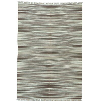 Reversible Durie Kilim Flat Weave Hand-Knotted Cream Area Rug