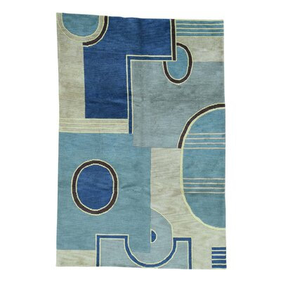 One-of-a-Kind Meghans Nepali Abstract Hand-Knotted Area Rug