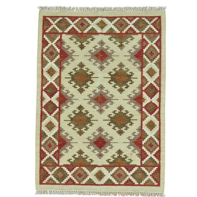 Anatolian Kilim Flat Weave Hand-Knotted Wool Beige Area Rug