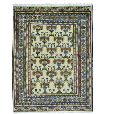 One-of-a-Kind Grainger Bokara Oriental Hand-Knotted Area Rug