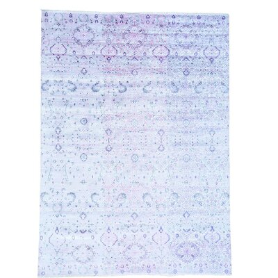One-of-a-Kind Nicol Abstract Oriental Hand-Knotted Silk Area Rug