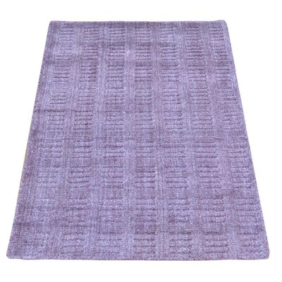 Tone on Tone Hand-Knotted Silk Purple Area Rug
