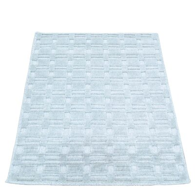 Tone on Tone Hand-Knotted Silk Gray Area Rug