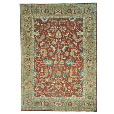One-of-a-Kind Rueter All Over Oriental Hand-Knotted Area Rug