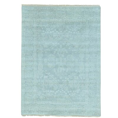 One-of-a-Kind Orion Tone on Tone Oriental Hand-Knotted Area Rug