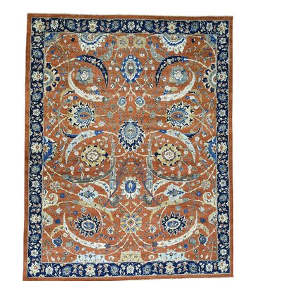 One-of-a-Kind Kensington Sickle Leaf Hand-Knotted Area Rug
