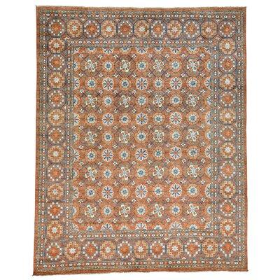 Afghan Ersari Beshir Oriental Hand-Knotted Wool Red Area Rug