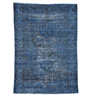 One-of-a-Kind Kenilworth Overdyed Erased Bakhtiar Vintage Hand-Knotted Area Rug