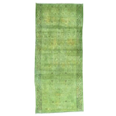 One-of-a-Kind MaryLou Overdyed Hamadan Fragment Vintage Oriental Hand-Knotted Area Rug