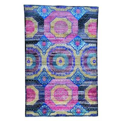 One-of-a-Kind Grasser Oidized Hand-Knotted Silk Area Rug