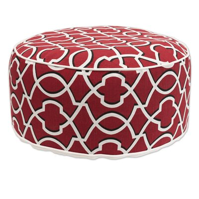 Madawaska Inflatable Pouf Upholstery: Red