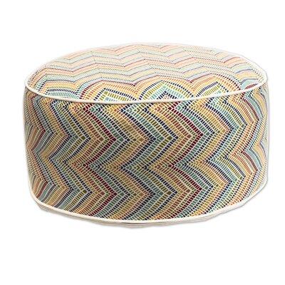 Madawaska Inflatable Pouf Upholstery: Yellow