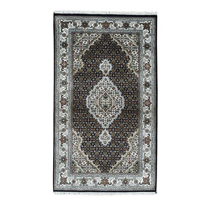 One-of-a-Kind Saltzman Mahi Oriental Hand-Knotted Silk Area Rug