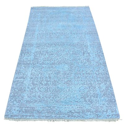 One-of-a-Kind Titus Broken Tone on Tone Hand-Knotted Silk Area Rug