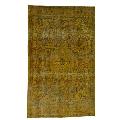 One-of-a-Kind Grasty Overdyed Hand-Knotted Area Rug