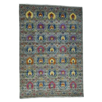 Crafts Vegetable Dyes Hand-Knotted Gray Area Rug