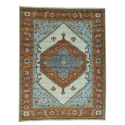 One-of-a-Kind Salvato Peshawar Bakshaish Motifs Oriental Hand-Knotted Area Rug