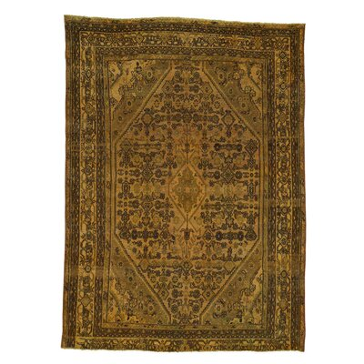 One-of-a-Kind Grasmere Bibikabad Overdyed Worn Hand-Knotted Area Rug