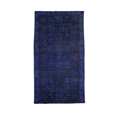 Bakhtiari Garden Overdyed Hand-Knotted Purple Area Rug