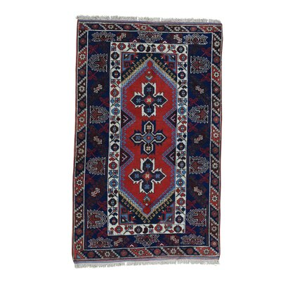 Shiraz Oriental Hand-Knotted Red Area Rug
