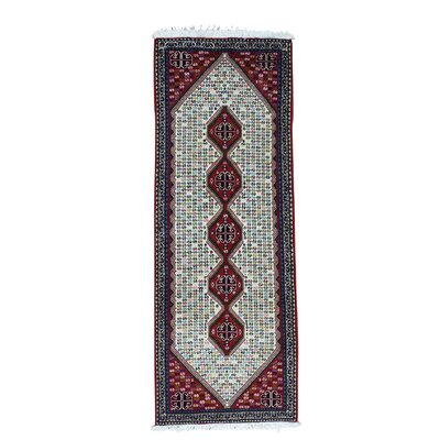 One-of-a-Kind Salvaggio Abadeh Dense Weave Oriental Hand-Knotted Area Rug