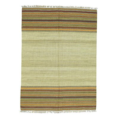 Southwest Kilim Flat Weave Hand-Knotted Beige/Yellow Area Rug