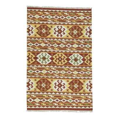 Anatolian Kilim Flat Weave Hand-Knotted Brown/Rust Area Rug