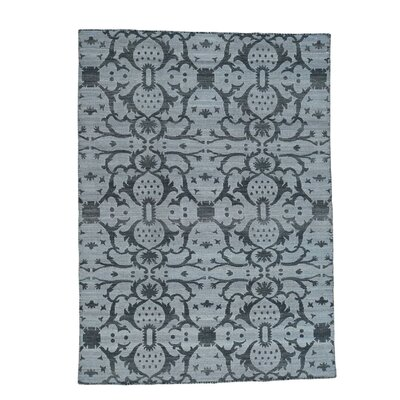Reversible Kilim Flat Weave Oriental Hand-Knotted Black Area Rug