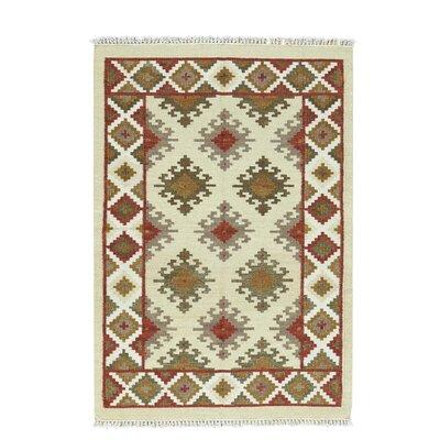 Anatolian Kilim Flat Weave Oriental Hand-Knotted Beige Area Rug
