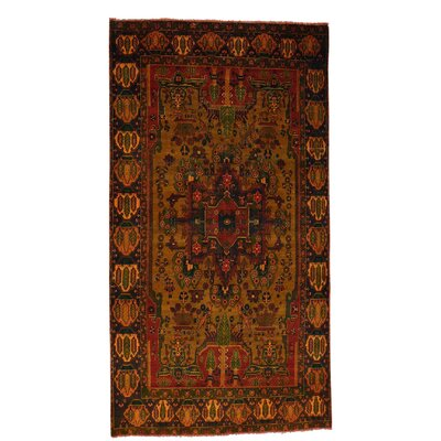 One-of-a-Kind Grasmere Overdyed Nahavand Vintage Hand-Knotted Area Rug