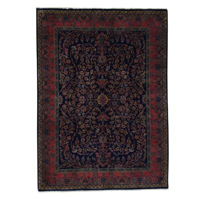New Zealand Sarouk Fereghan 300 KPSI Hand-Knotted Blue Area Rug